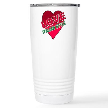 Love Italian Style Stainless Steel Travel Mug
