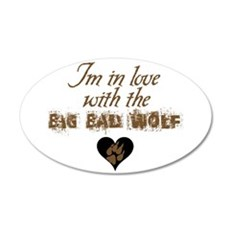 In love with big bad wolf 38.5 x 24.5 Oval Wall Pe