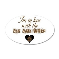In love with big bad wolf 22x14 Oval Wall Peel