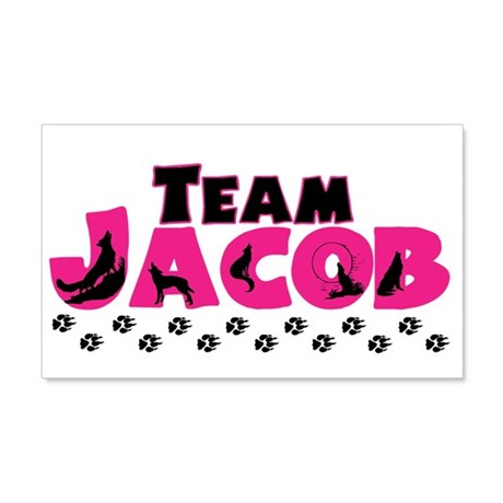Team Jacob pink & black 22x14 Wall Peel