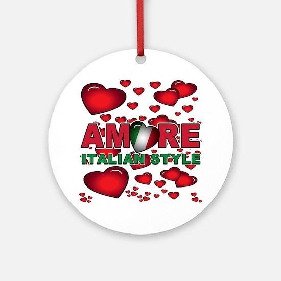 Love Italian Style Ornament (Round)