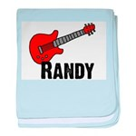Customized/Personalized RANDY Guitar Baby Blanket