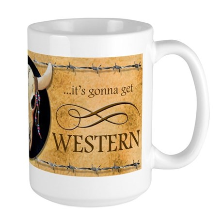 Cow Skull Western Large Mug