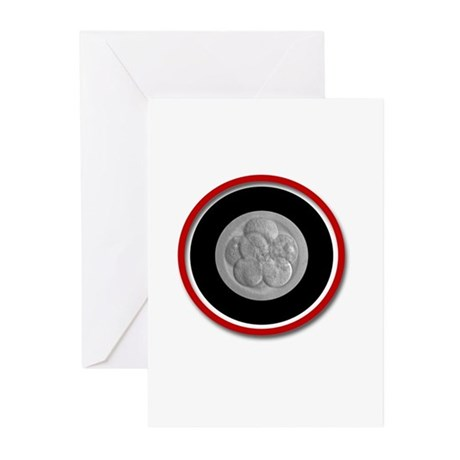 Abstract Blastocyst Greeting Cards (Pk of 10)