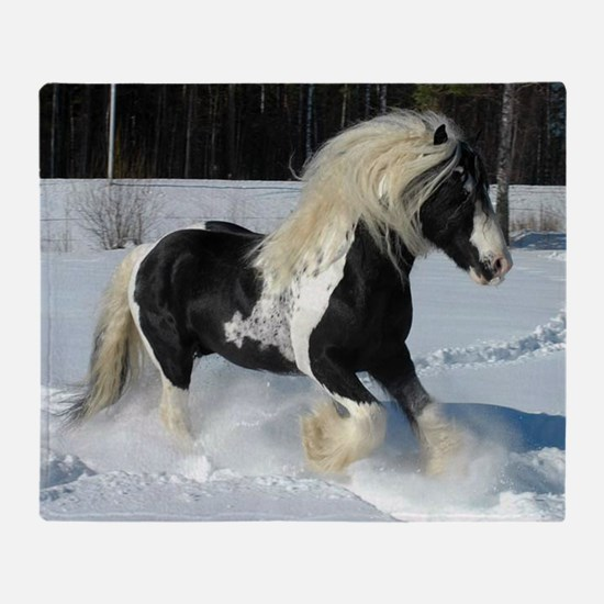 Irish Cob Horse Throw Blanket