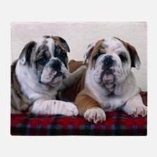 Bulldog Puppies Throw Blanket