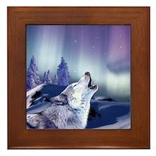 Winter Wolf Framed Tile