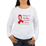 Heart Disease I Wear Ribbon H Women's Long Sleeve