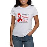 Heart Disease I Wear Ribbon H Women's T-Shirt
