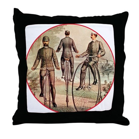 The Wheelmen Throw Pillow