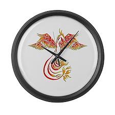 Cute Dragon phoenix Large Wall Clock