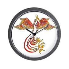 Cute Dragon phoenix Wall Clock