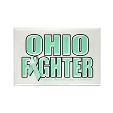 Ohio Ovarian Cancer Fighter Rectangle Magnet (10 p