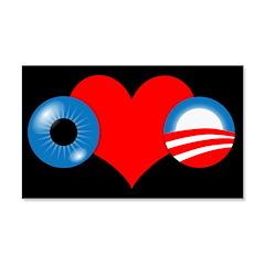Eye Heart Obama 22x14 Wall Peel