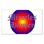 MIRACLES HAPPEN III Sticker (Rectangle 50 pk)