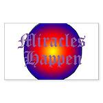 MIRACLES HAPPEN III Sticker (Rectangle)