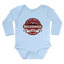 Breckenridge Red Long Sleeve Infant Bodysuit