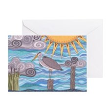 Heron's Watch Greeting Card