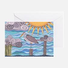 Heron's Watch Greeting Card