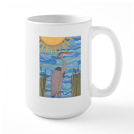 Great Blue Heron Large Mug