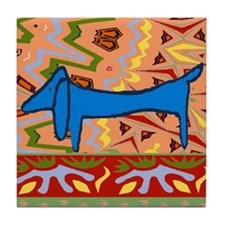 Dachshund Art Tile Coaster