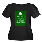 Keep Calm Cthulhu Women's Plus Size Scoop Neck Dar
