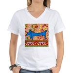 Dachshund Women's V-Neck T-Shirt