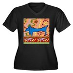 Dachshund Women's Plus Size V-Neck Dark T-Shirt
