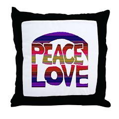 Peace Love Throw Pillow