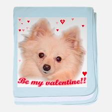 Valentine Pomeranian baby blanket