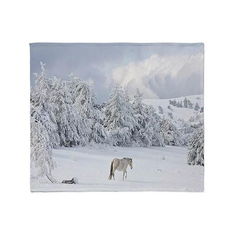Winter Scenery Throw Blanket