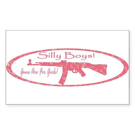 PINK GUN Sticker (Rectangle)
