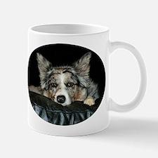 Blue Merle on Sofa Mug
