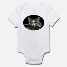 Blue Merle on Sofa Onesie