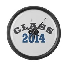 Class of 2014 Blue Large Wall Clock