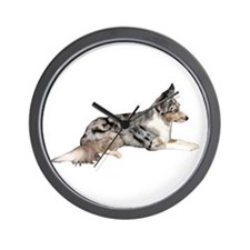Blue Merle Wall Clock