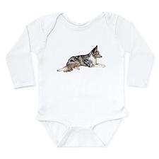 Blue Merle Long Sleeve Infant Bodysuit