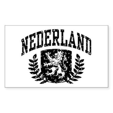 Nederland Sticker (Rectangle)