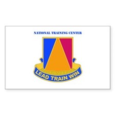 DUI - National Training Center with Text Decal