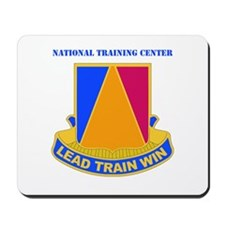 DUI - National Training Center with Text Mousepad