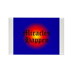 MIRACLES HAPPEN V Rectangle Magnet (10 pack)