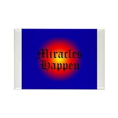 MIRACLES HAPPEN V Rectangle Magnet