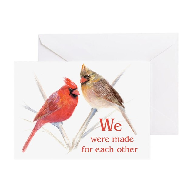 Made For Each Other: Made For Each Other Cardinals Greeting Card By