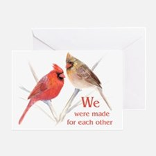 Made for each other Cardinals Greeting Card