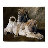 Shar pei blanket Fleece Blankets