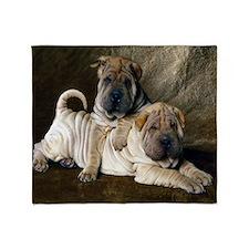 Shar Pei PupsThrow Blanket