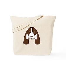 Fetching Liver & Black Springer Tote Bag