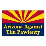 Arizona Against Tim Pawlenty Bumper Sticker