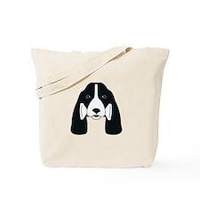 Fetching Black & Liver Springer Tote Bag