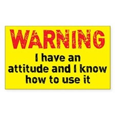 Attitude Warning Decal